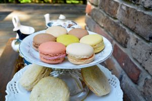 Macarons and scones by Heart of Pixie