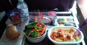 Meal on Virgin Atlantic