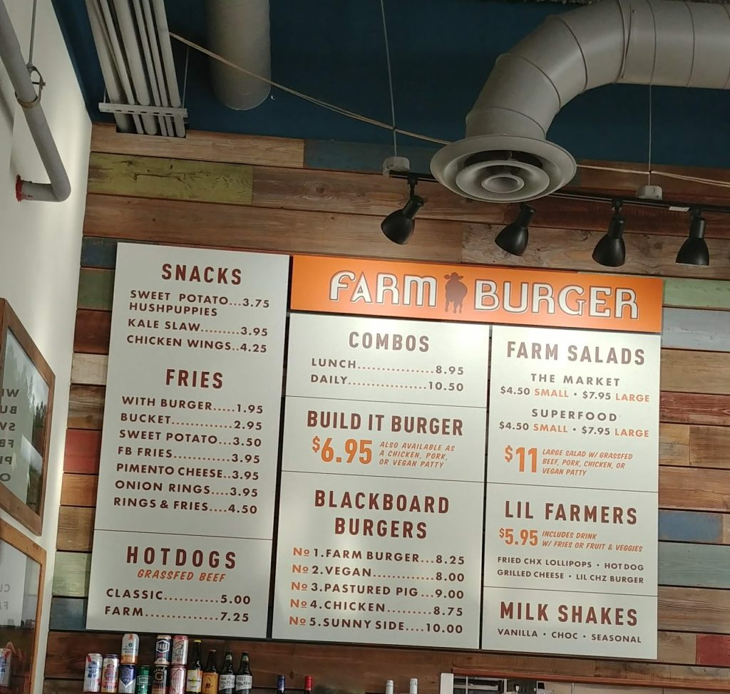 Farm Burger Menu by Heart of Pixie