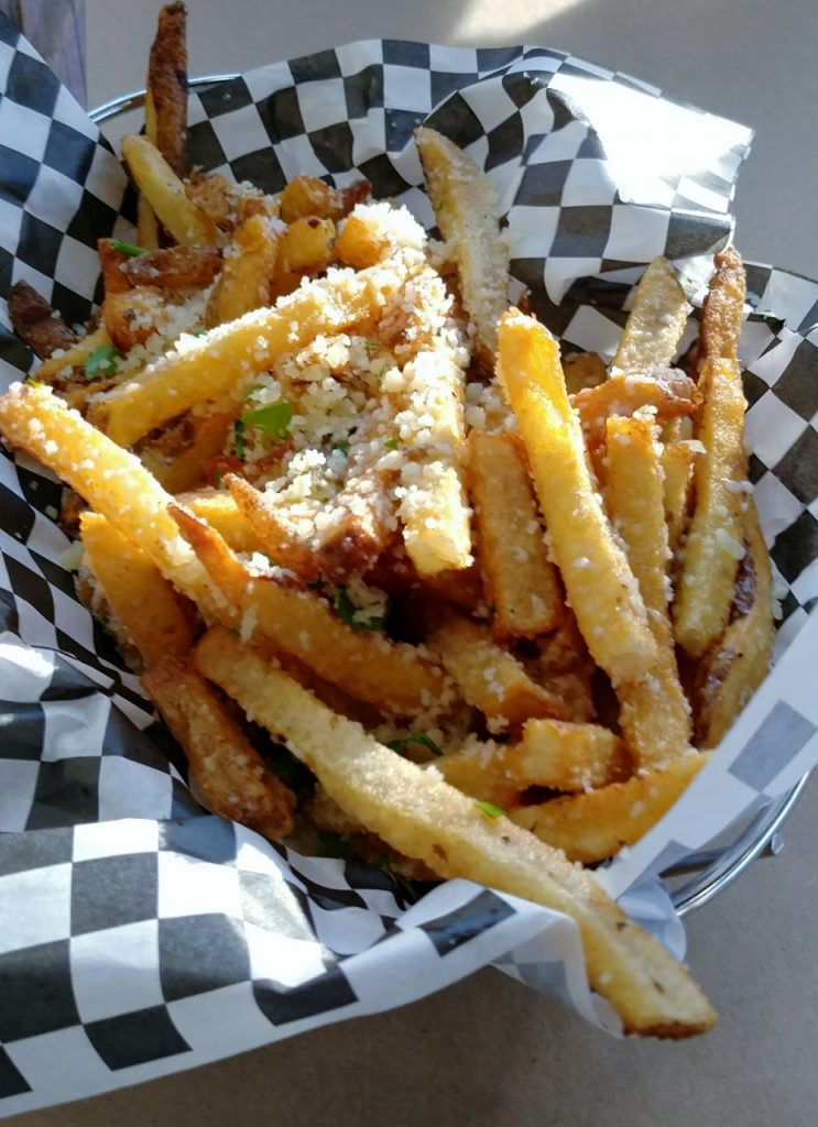 FB Fries: garlic, herbs, parmesan cheese